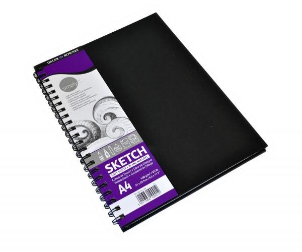 Simply Skizzenbuch Notizbuch Format Spiralbindung A4