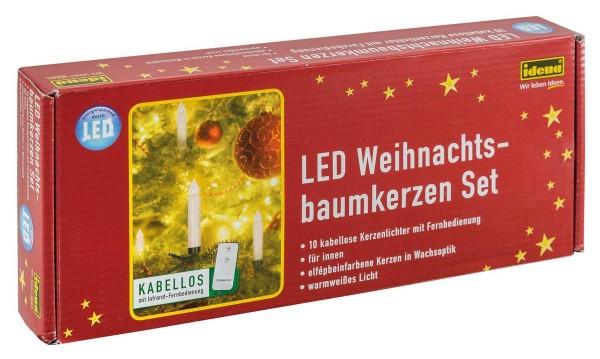 Idena LED Christbaumkerzen warmweiß 10er Weihnachsbaum Kerzen