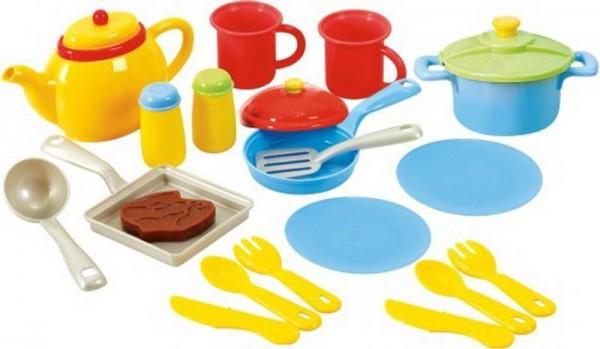 Playgo - Küchengeschirr, 19-teiliges Set