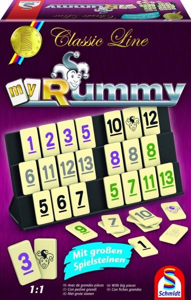 Schmidt Spiele Classic Line, MyRummy®, mit großen Spielfiguren