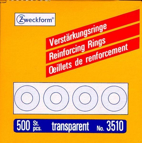 Avery Zweckform Verstärkungs Ringe, Ø 13 mm, transparent