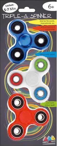 Triple-A-Toys Triple-A-Spinner Fidget Spinner 3-teiliges Set