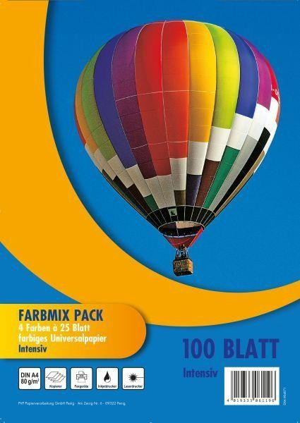 PVP Papierverarbeitung Kopierpapier Farbmix A4, 100 Blatt