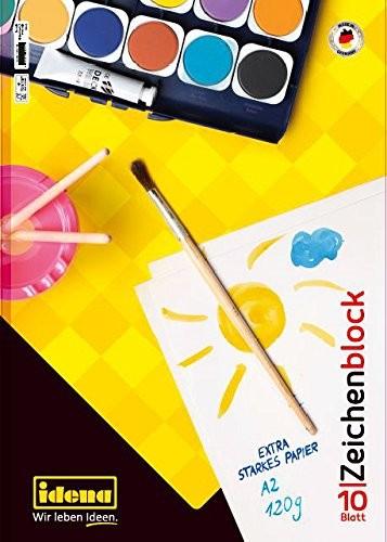 Idena Zeichenblock FSC-Mix A2 , 10 Blatt Kopfgeleimt