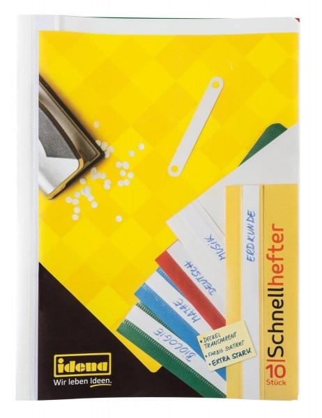 Idena Schnellhefter, DIN A4, 10 Stück/5 Farben, extra stark