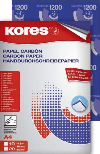 Kores Durchschreibepapier, DIN A4, blau, 10 Blatt Blaupapier