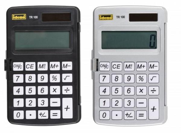 Idena Taschenrechner TR 100,  farblich sortiert