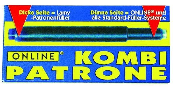 Online Kombipatrone blau, 5 Stück