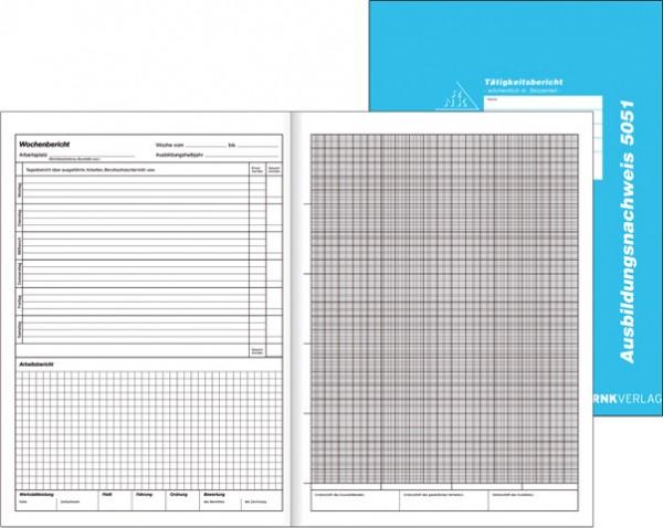 Ausbildungsnachweis Berichtsheft  Handwerk mit Skizzenteil A4