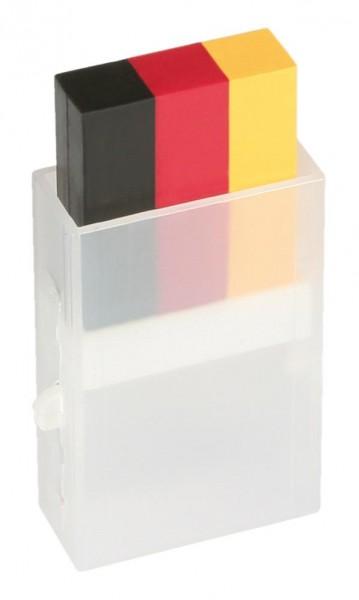Goodmark Schminkstift Deutschland, 3-farbig schwarz/rot/gelb