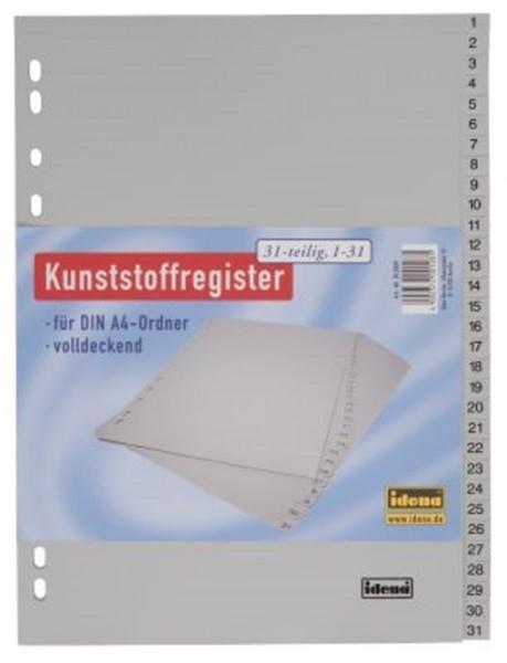 IDENA Register A4 1-31 Kunststoffregister
