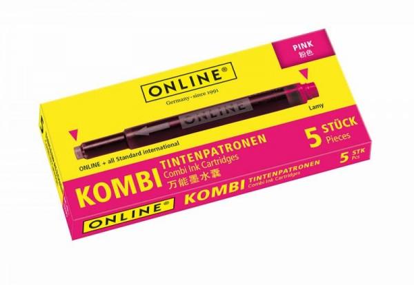 Online Kombipatrone pink 5 Stück  Tintenpatronen