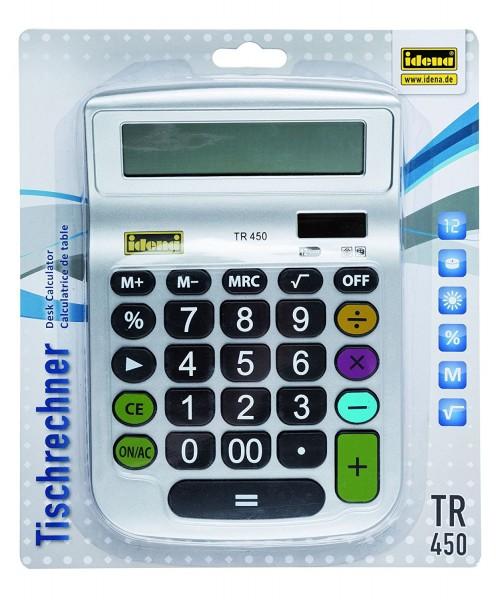 Idena 505292 - Tischrechner TR 450, 12-stelliges Display, Batteriebetrieb
