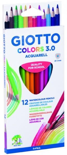 Farbstifte GIOTTO COLORS 3.0 Aquarell, Hängeetui mit 12 Farben
