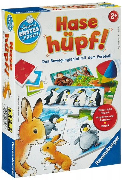 Ravensburger 24735 - Hase Hüpf Kinderspiel Lernspiel ERSTES LERNEN