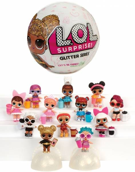 MGA LOL Suprise Glitter Püppchen Kugel Ball Doll Sisters