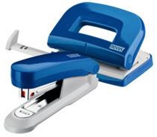 Novus Schreibtisch-Accessoire Set Hefter E15 Locher E210 blau