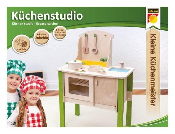 Idena Kleine Küchenmeister Küchenstudio aus Holz, inklusive Zubehör