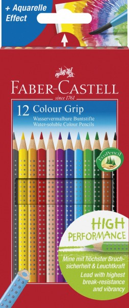 Faber-Castell Buntstift Farbstift 2001 Colour GRIP 12er Kartonetui