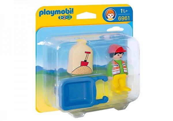 PLAYMOBIL® Bauarbeiter mit Schubkarre