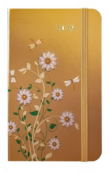 Idena Motivagenda FSC-Mix Daisy gold Terminkalender