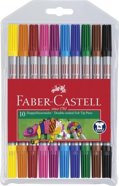 Faber-Castell Doppelfasermaler, 10 Stück