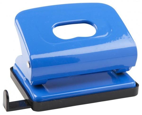 Idena Locher Metall mit Anschlagschiene blau Bürolocher