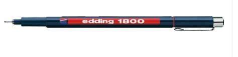 edding 1800 Faserzeichner Profipen, schwarz, 0.7mm