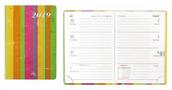 Idena Taschenkal.FSC-Mix A7, 2019, Marina Stripes Terminkalender