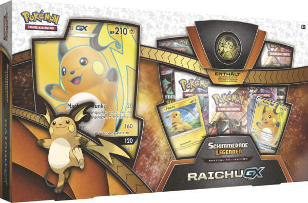 Pokemon Sonne u. Mond 03.5 Raichu GX Box deutsch
