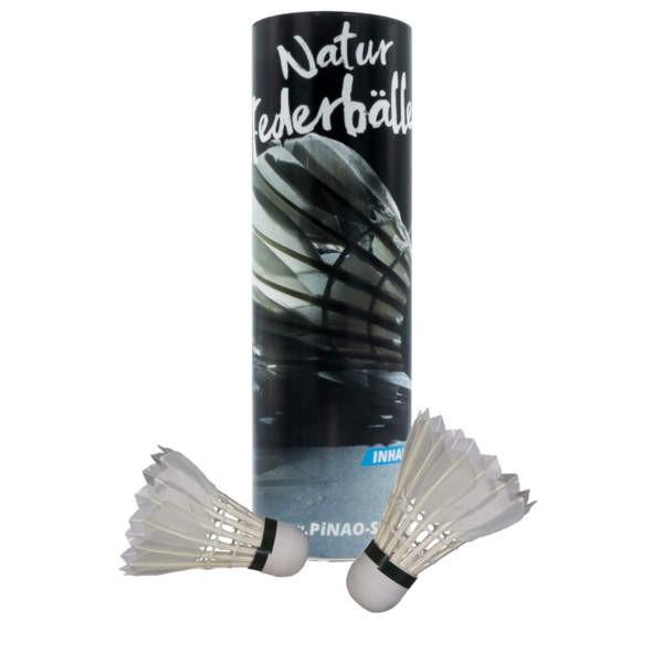 Pin Badminton Bälle aus EntenfedernNatur 6er